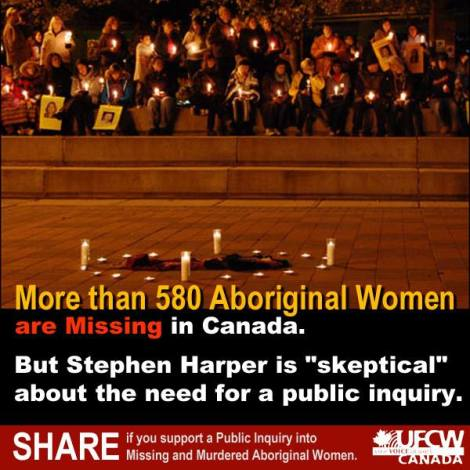 Federal Tories dismiss calls for inquiry into missing, murdered aboriginal women