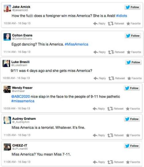 Some of the classier responses to the new Miss America.