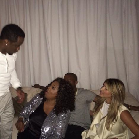 Kanye West Kim, and Oprah