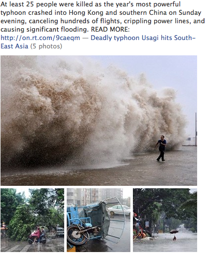 Deadly typhoon Usagi hits South-East Asia