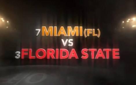 incredible hype video for FSU vs. Miami