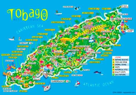 Where have you visited while in Tobago?